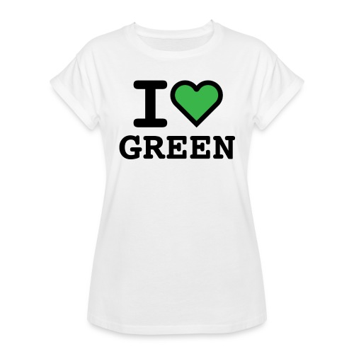 i-love-green-2.png - Maglietta ampia da donna