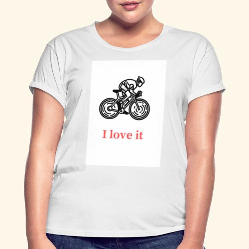 I love my bicycle - Koszulka damska oversize