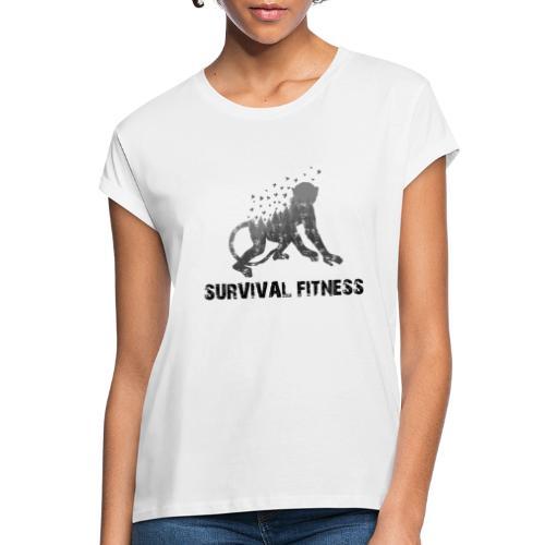 Survival Fitness Logo Schwarz - Frauen Oversize T-Shirt