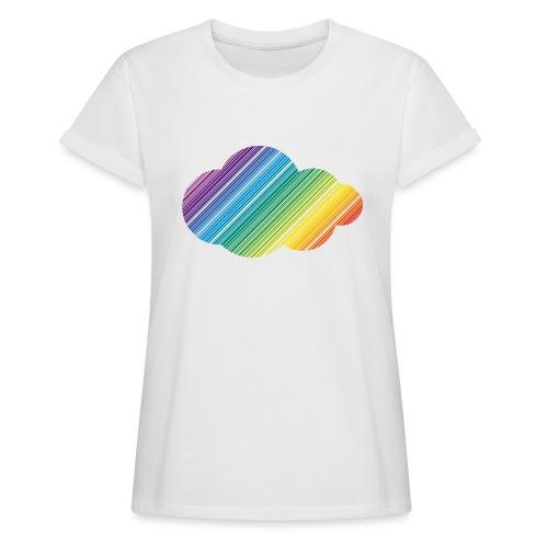 Regnbågsmoln - Oversize-T-shirt dam