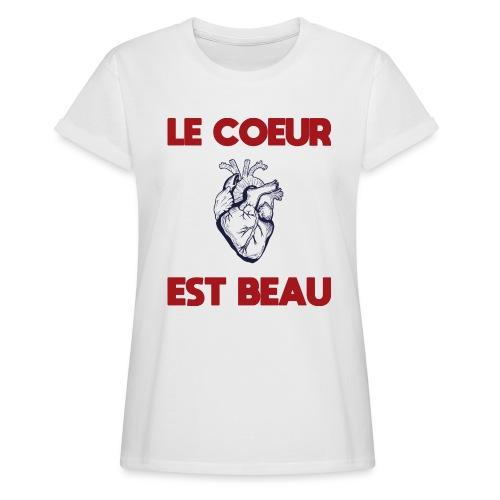 Le coeur est beau - Frauen Oversize T-Shirt