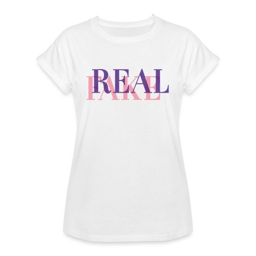 REAL or FAKE? - Frauen Oversize T-Shirt