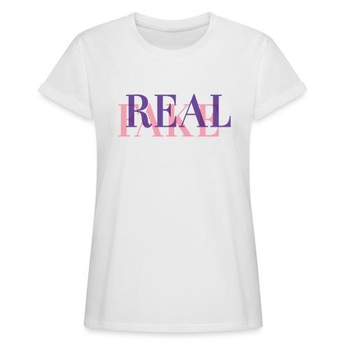 REAL or FAKE? - Frauen Oversize T-Shirt