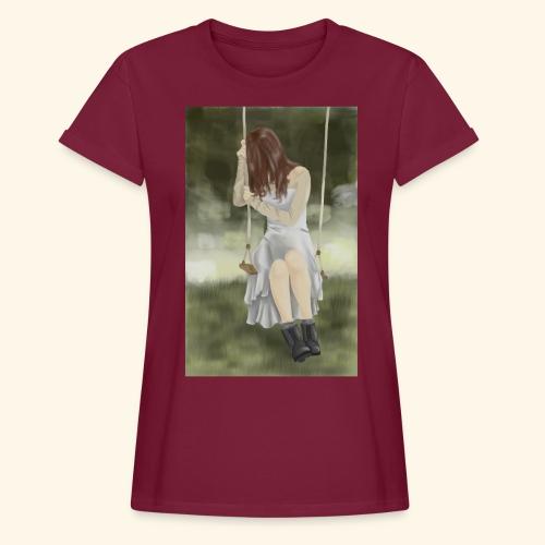 Sad Girl on Swing - Women's Oversize T-Shirt