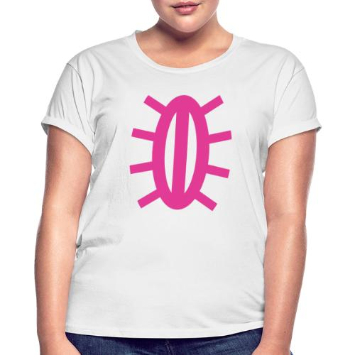 kirkkovene 2019 pinkki - Naisten oversized-t-paita