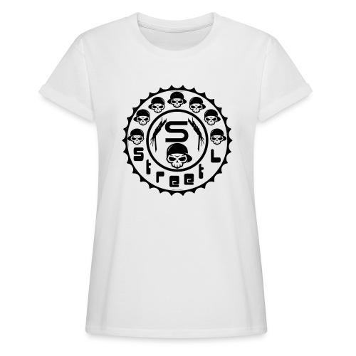 rawstyles rap hip hop logo money design by mrv - Koszulka damska oversize