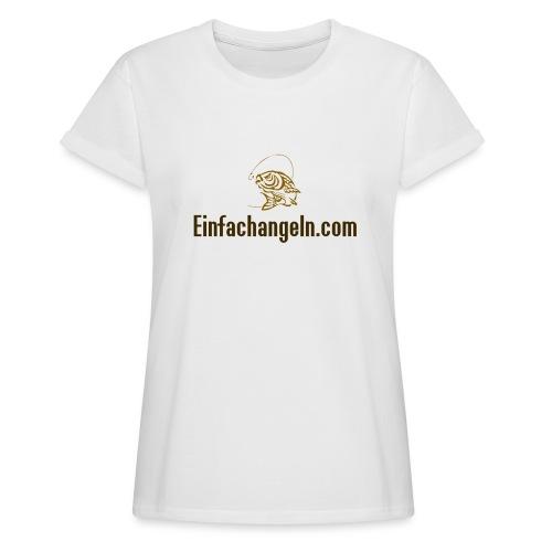 Einfachangeln Teamshirt - Frauen Oversize T-Shirt