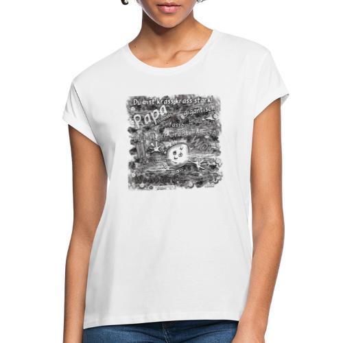 Kreativ Studio Nuding Big heavenly Daddy grau - Frauen Oversize T-Shirt