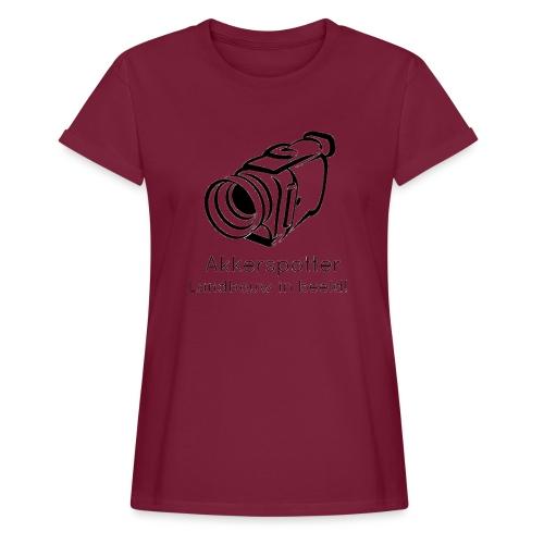 Logo akkerspotter - Vrouwen oversize T-shirt