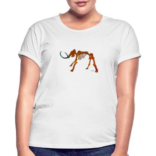 Halloween Space Mammoth Skelett - Frauen Oversize T-Shirt