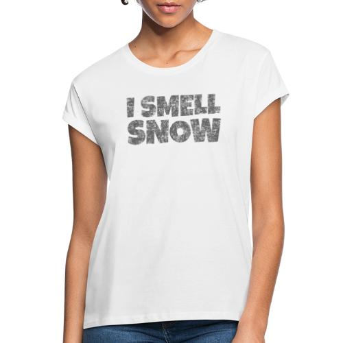 I Smell Snow (Dunkelgrau) Schnee, Wintersport, Ski - Frauen Oversize T-Shirt