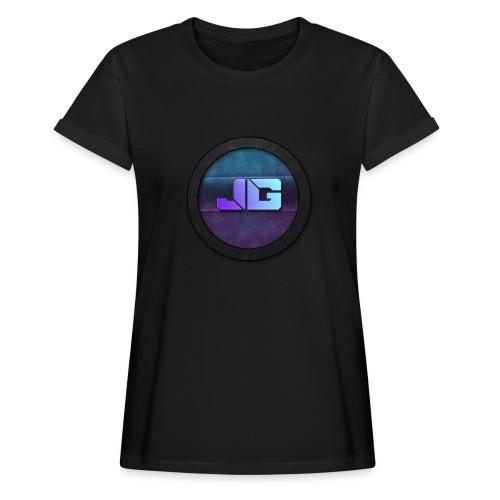 Pet met Logo - Vrouwen oversize T-shirt