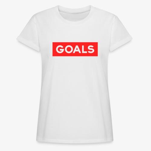 GOALS SQUARE BOX - Women's Oversize T-Shirt