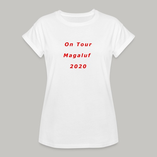 On Tour In Magaluf, 2020 - Printed T Shirt - Women's Oversize T-Shirt
