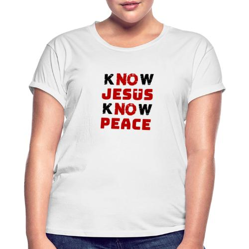 Know Jesus Know Peace (Classic) - Frauen Oversize T-Shirt