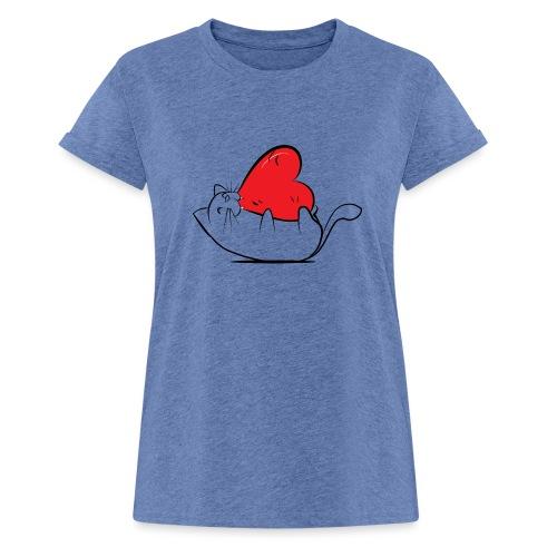 Cat Love - Vrouwen oversize T-shirt