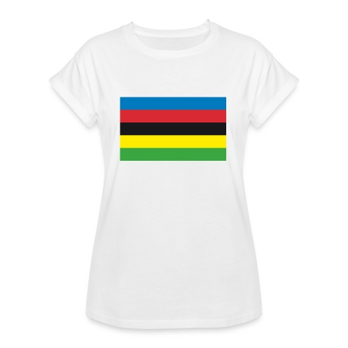 Cycling_World_Champion_Rainbow_Stripes-png - Vrouwen oversize T-shirt