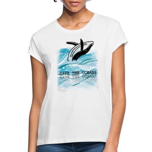 SAVE THE OCEANS - Frauen Oversize T-Shirt