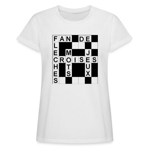 Fan de mots croisés - T-shirt oversize Femme