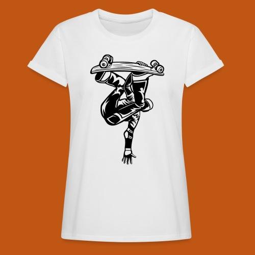 Skater / Skateboarder 03_schwarz - Frauen Oversize T-Shirt