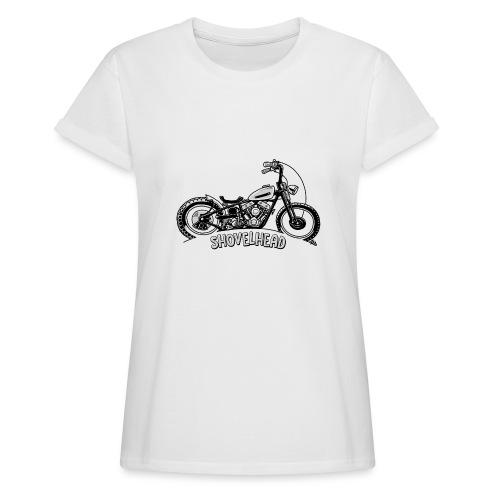 0917 chopper shovelhead - Vrouwen oversize T-shirt