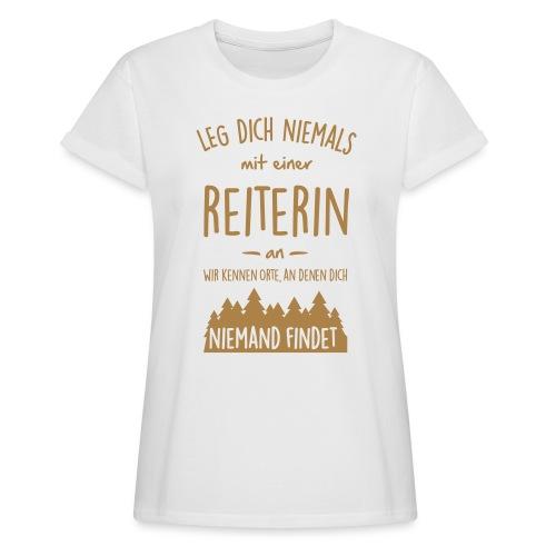 Vorschau: Reiterin - Frauen Oversize T-Shirt