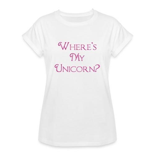 Where's My Unicorn - Women's Oversize T-Shirt