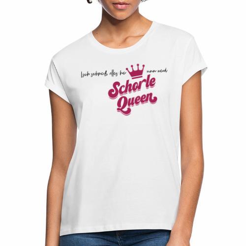 Isch schmeiß alles hie unn werd Schorle Queen - V2 - Frauen Oversize T-Shirt