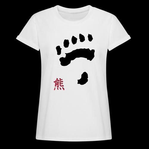 tatze_kuma + Kanji - Frauen Oversize T-Shirt