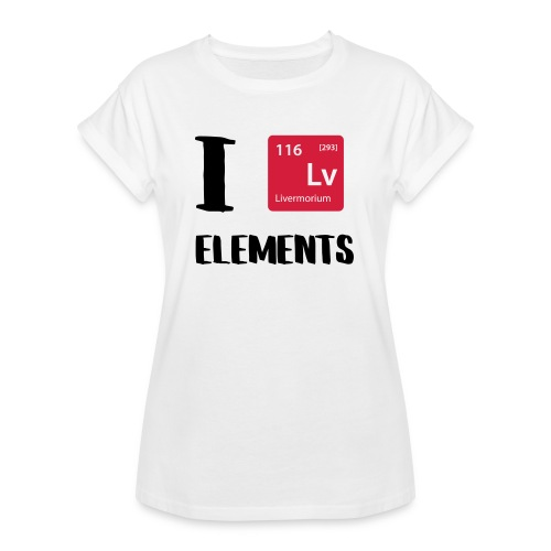I love Elements - Frauen Oversize T-Shirt
