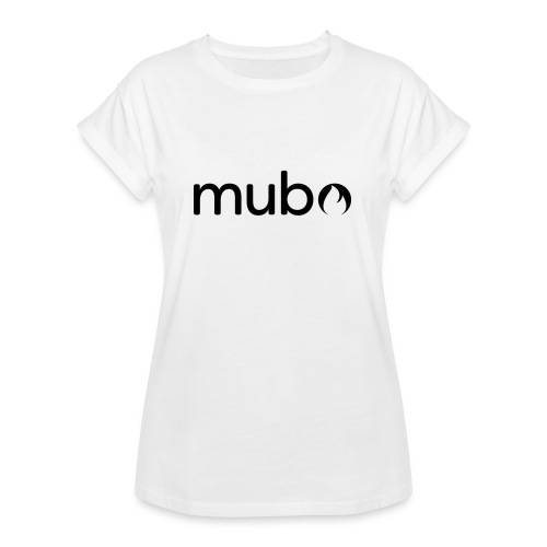 mubo Logo Word Black - Women's Oversize T-Shirt
