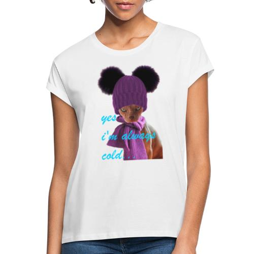 Sphinx cat in hat and scarf - Oversize-T-shirt dam