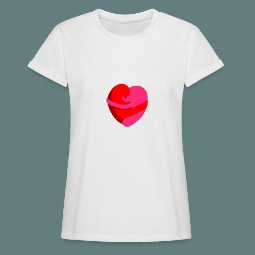 hearts hug - Maglietta ampia da donna