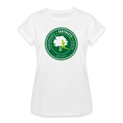 EARTHLETE Brand Logo - Dame oversize T-shirt