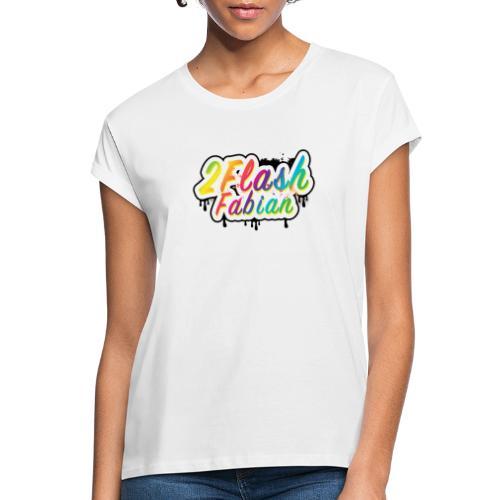 2Flash Fabian weiß - Frauen Oversize T-Shirt