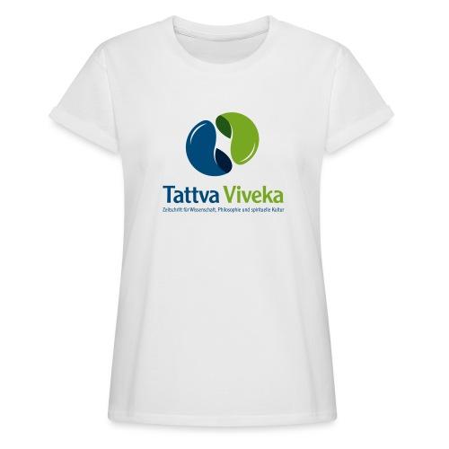 TV Logo Text unten - Frauen Oversize T-Shirt