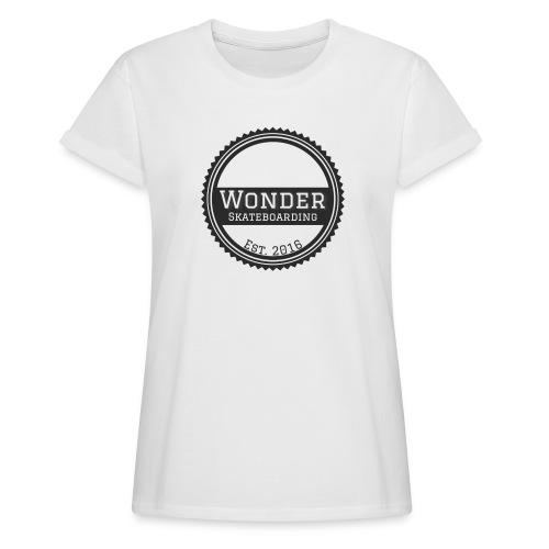 Wonder unisex-shirt round logo - Dame oversize T-shirt