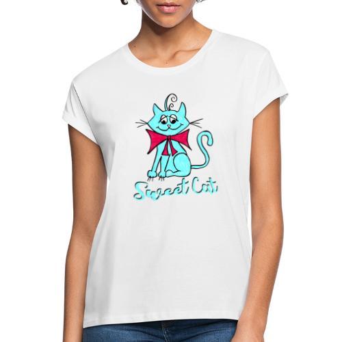 Niedliche kleine blaue Katze, Sweet! - Frauen Oversize T-Shirt