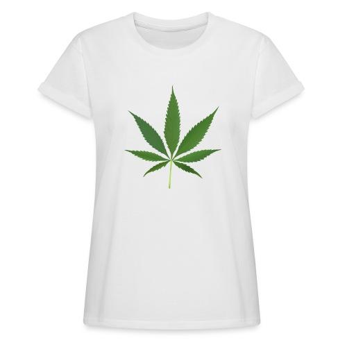 2000px-Cannabis_leaf_2 - Dame oversize T-shirt