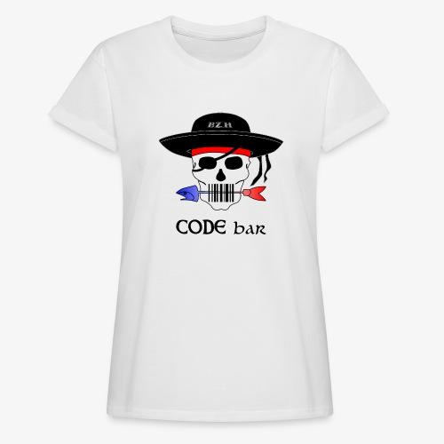 Code Bar couleur - T-shirt oversize Femme