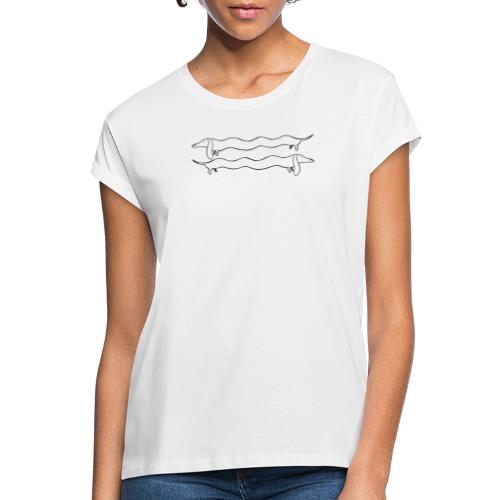 2 Dackel - Frauen Oversize T-Shirt