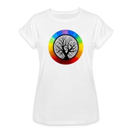 tree of life png - Vrouwen oversize T-shirt