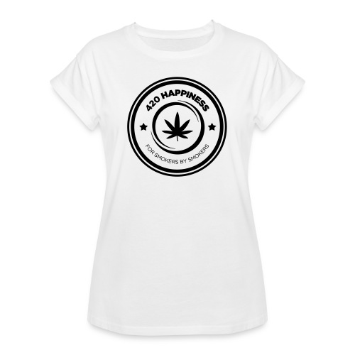 420_Happiness_logo - Dame oversize T-shirt