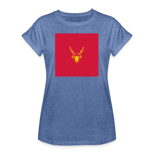 scimmiacervo sfondo rosso - Maglietta ampia da donna