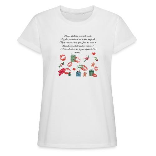Bonne resolution Noël Nouvel An - T-shirt oversize Femme