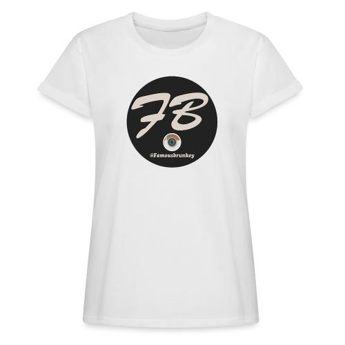 TSHIRT-INSTATUBER-METLOGO - Vrouwen oversize T-shirt