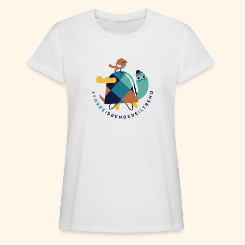 Tartaruga e uccellino - Maglietta ampia da donna