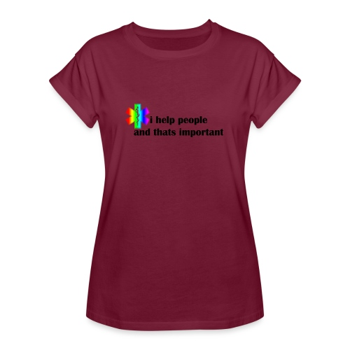 i help people - Vrouwen oversize T-shirt