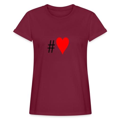 Hashtag Heart - Women's Oversize T-Shirt