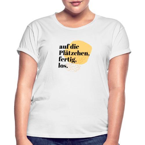 Auf die Plätzchen, fertig, los. Aquarell - Frauen Oversize T-Shirt